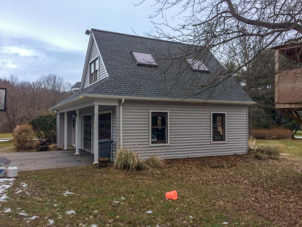 Siding job by Hillcrest Roofing & Siding