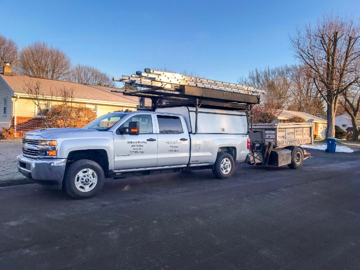 Hillcrest Roofing and Siding work truck