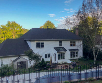 New Certainteed Charcoal Black Shingle Roof in Downingtown, PA