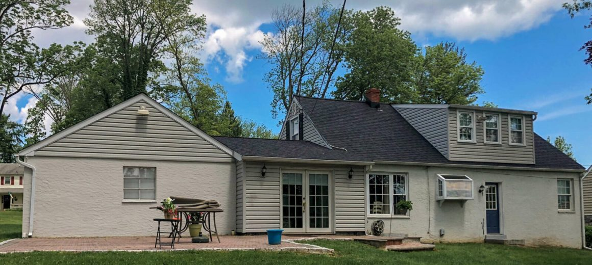 Shing roofing job done by Hillcrest Roofing in Newtown Square, Pennsylvania