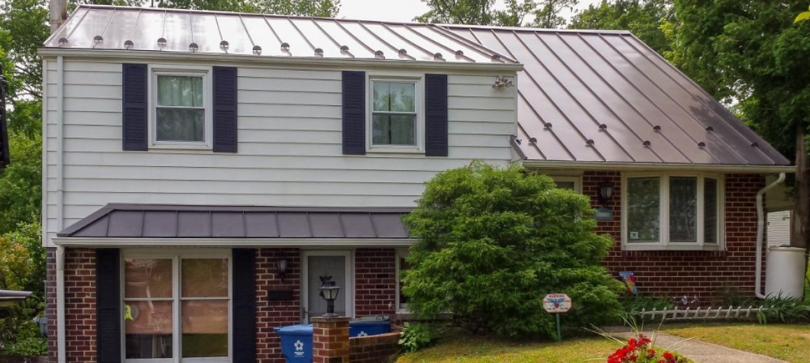 new metal roof on a house