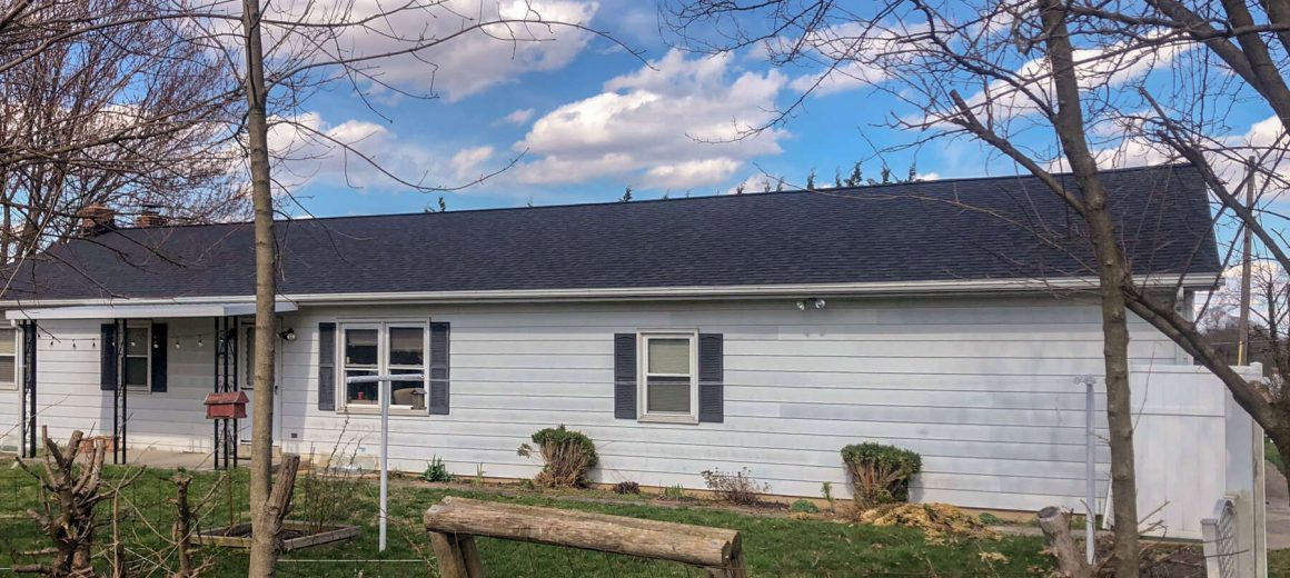 New shingle roofing in Manchester, Maryland
