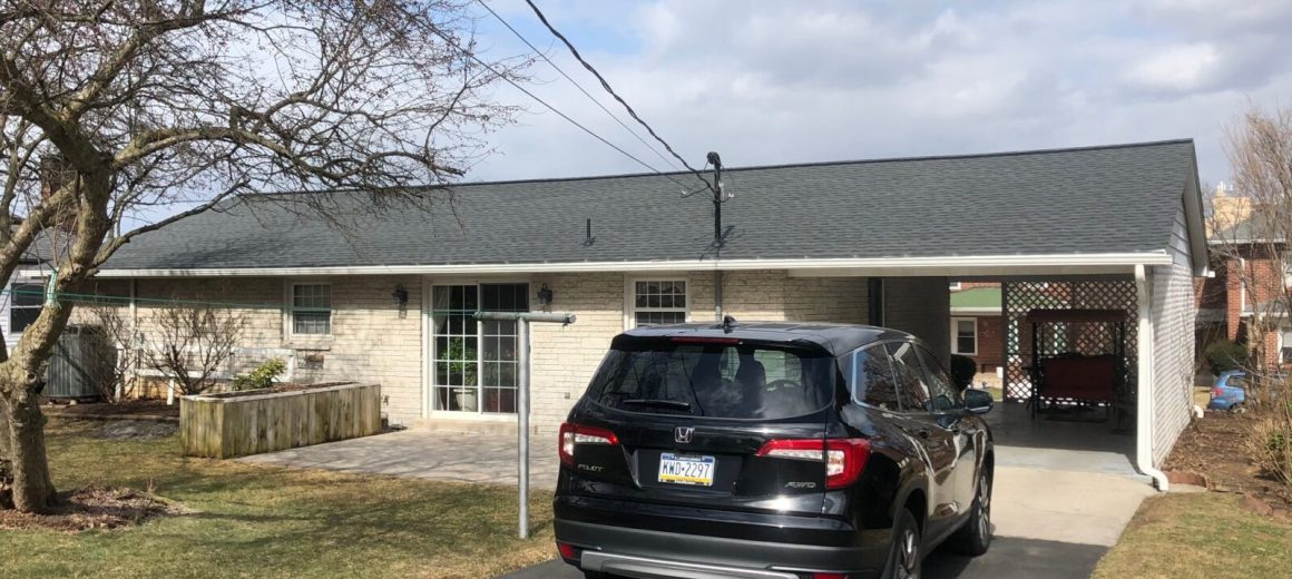 New shingles and gutters in Hershey, PA
