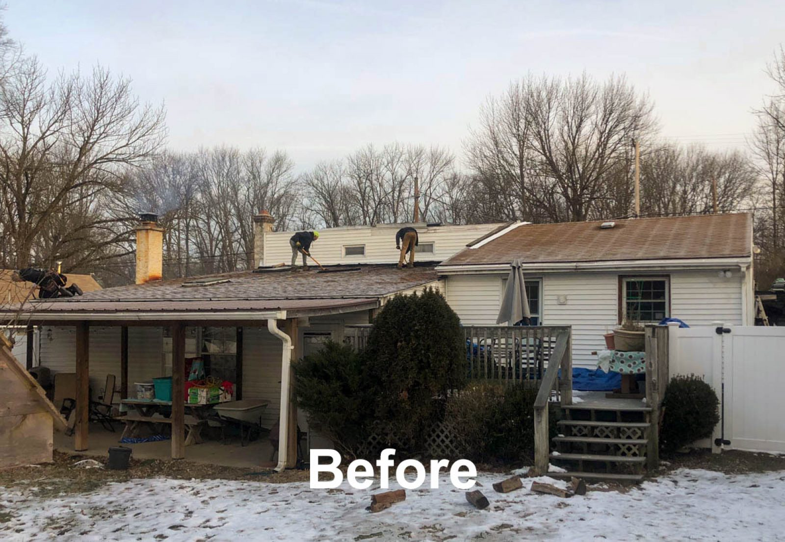 Old Shingle Roof getting replaced by metal roof