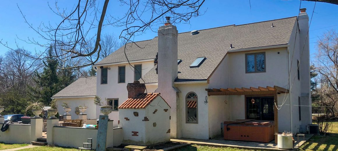 New shingle roofing and skylights in West Chester, PA